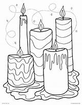 Coloring Wax Candle Pages Candles Template Printable Adults Fall Altar Melting sketch template