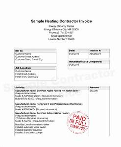 sample contractor invoice template hardhostinfo With sample contractor invoice