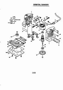 Skil 7275 Type 1 Power Sander Parts