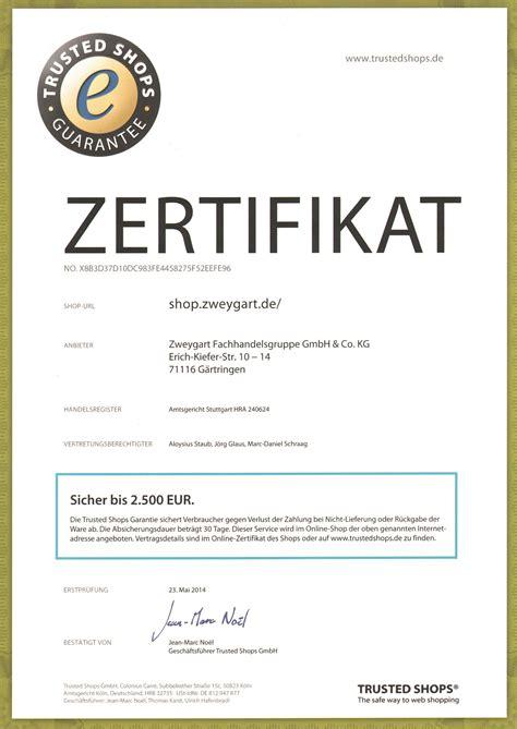 zweygart zertifizierungen