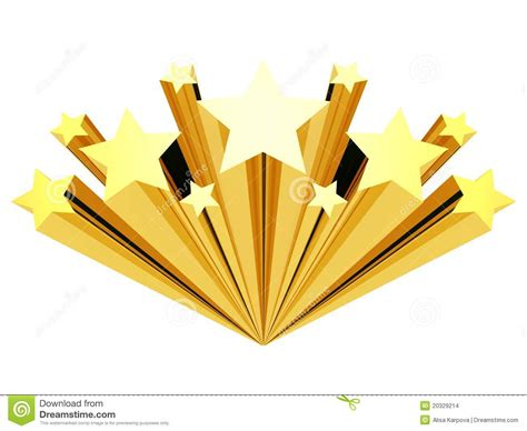 Gold Shooting Star Clip Art