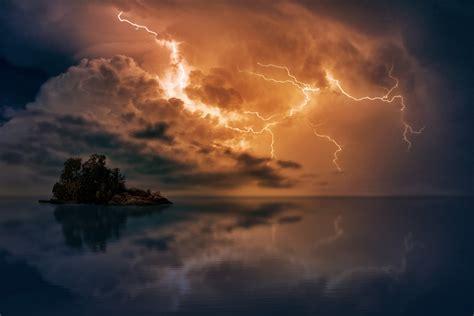 lightning sky storm iphone wallpaper idrop news