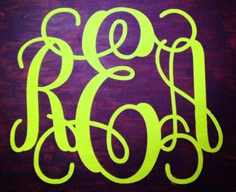 monogram canvas tutorial