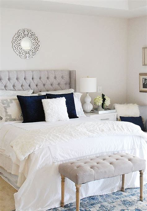 silver bedroom decor ideas  pinterest white