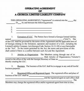 operating agreement 7 free pdf doc download With operation agreement llc template