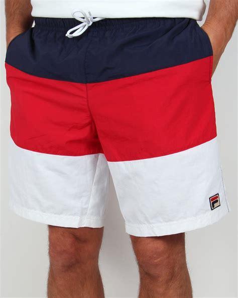 fila vintage beam beach shorts redwhitenavyswimmersholidaymens