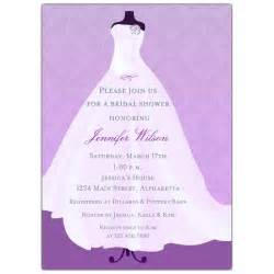 wedding shower flowing lilac gown bridal shower invitations paperstyle