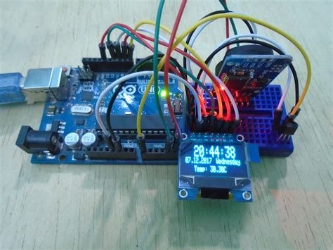 arduino oled temperature display  real time clock