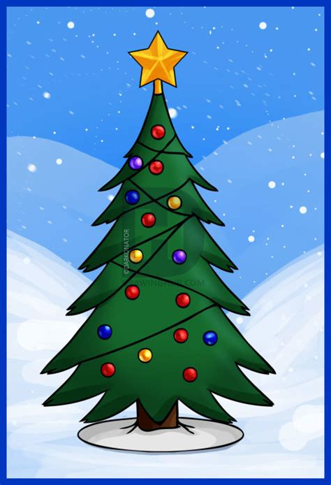 how to draw christmas tree how to draw a simple tree step by step drawing guide by darkonator drawinghub