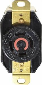 Hubbell Twist Lock 20a Receptacle