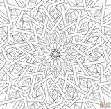Coloring Islamic Mosaic Geometric Mozaika Traditional Printable Adult Supercoloring Mandala Islamska Tradycyjna Adulte Mosaique Patterns Kolorowanka Sheets Ramadan Islam Mandalas sketch template