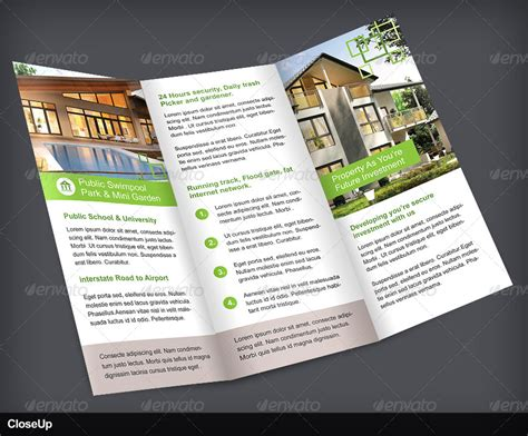 property pamphlet real estate trifold brochure volume 1 by vinirama