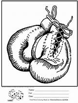 Coloring Boxing Gloves Glove Adults Template Printable Awesome Adult Para Ginormasource Colorear Páginas Guardado Desde Found sketch template