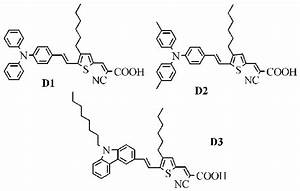 Molecular Structures Of The Dyes D1  D2  And D3