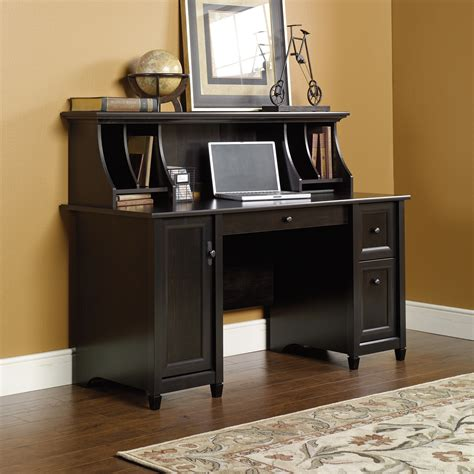 Edge Water  Computer Desk With Hutch Set  Ps1016  Sauder. Desk Lamp With Magnifying Glass. Best Desk Ever. Lap Desk With Lamp. Drawer Dovetails. How To Build A Cabinet With Drawers. Organize Desk. Bed Desks. Office Desk With Glass Top