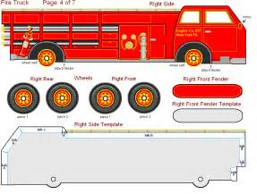 Free Printable Fire Truck Craft
