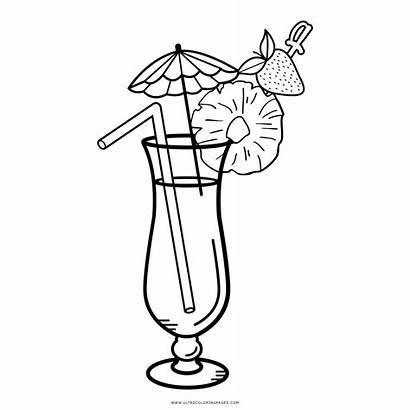 Coloring Cocktail Ausmalbilder Disegni Drinks Colouring Colorare