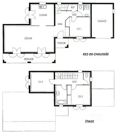 plan plain pied 4 chambres comment dessiner un plan de maison