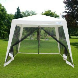 quictent  trapezoid canopy party tent gazebo screen house mesh side wall ebay