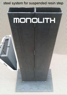 marche en resine monolith pour escalier exterieur kit acier pour escalier suspendu