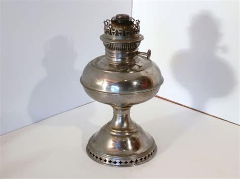 vintage antique nickel plated rayo oil kerosene l or