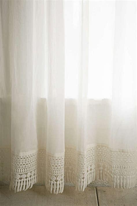 crochet trim curtain curtains blinds curtains
