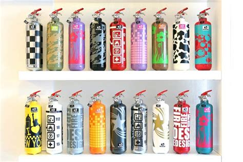 Fire Extinguishers As Beautiful Decorative Objects By Fire