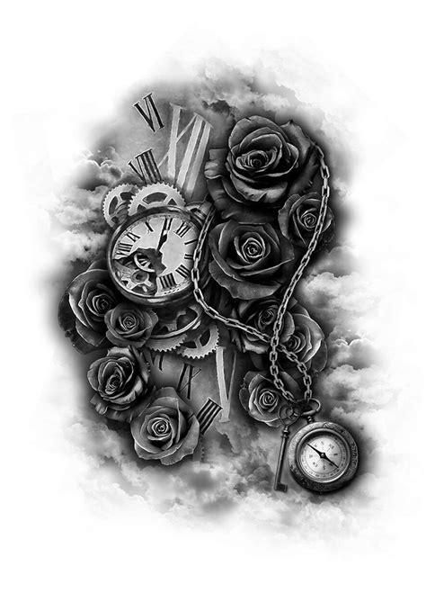 ideas  clock tattoo design  pinterest tattoo designs clock tattoos  time