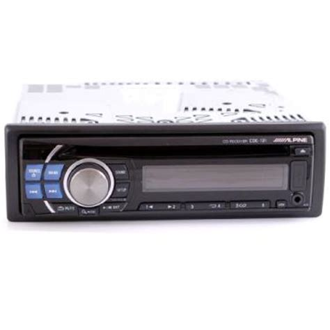 alpine cde 121 cd mp3 aac wma am fm car radio with front aux and usb inputs at