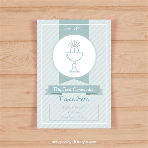 communion invitation templates communion invitation template vector free