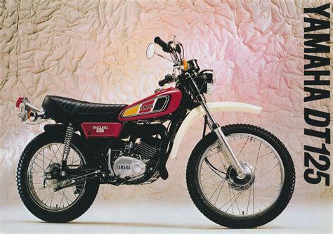 yamaha dt125 dt125e dt125mx dt125r brochures addicted yamaha bikes yamaha motorcycles