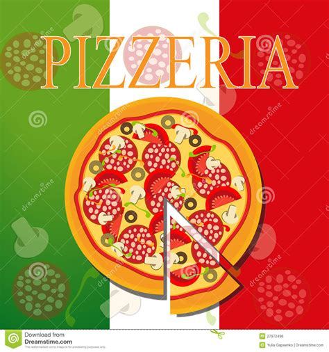pizza template pizza menu template vector illustration stock vector image 27972496