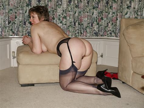 Connie Red Lingerie And Black Seamed Stockings 141 Pics