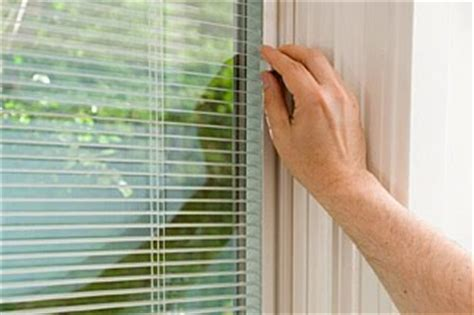Almost all of the doors and windows sold today with blinds between the glass are not easily repairable. Replacement Windows with Blinds Between the Glass Save Energy
