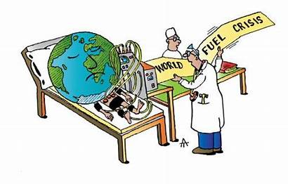 Crisis Fuel Cartoon Energy Cartoons Oil Toonpool
