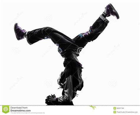 Appui Renversé Breakdancing De Jeune Homme De Danseur