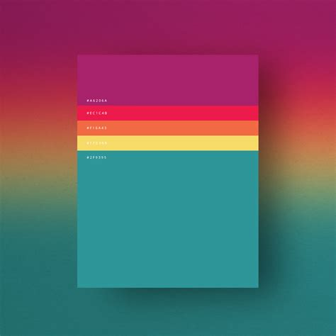 beautiful colour palettes based  years  popular