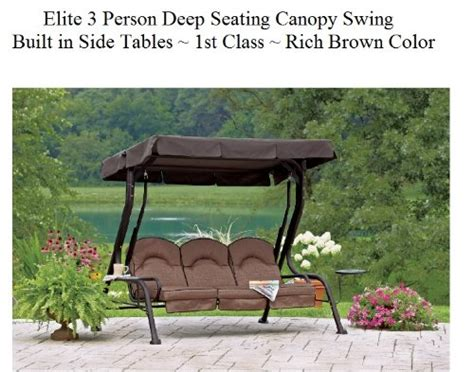 three person bench and swings 171 patio lawn and garden