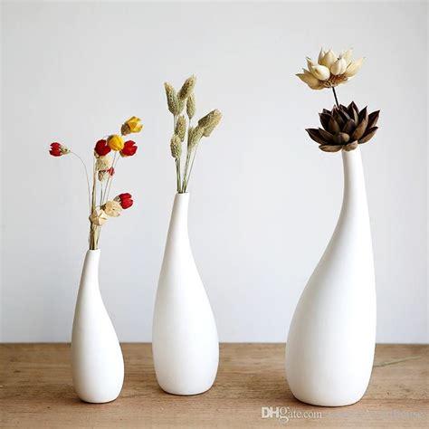 Small White Vases Bulk by Small Size Modern Streamline Ceramic Vase White Porcelain