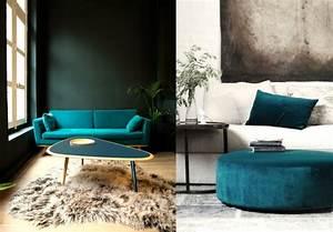 best 25 canape bleu canard ideas on pinterest bleu With exceptional couleur tendance peinture salon 5 la couleur jaune moutarde nouvelle tendance dans l