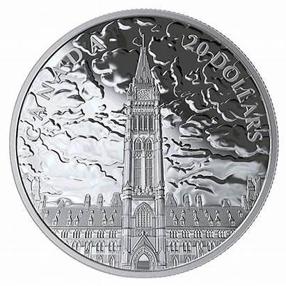 Coin Canadian Lights Parliament Hill Oz Canada