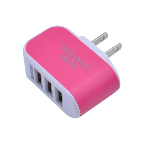 iphone charger voltage 3 port usb wall home travel ac led power charger adapter 3