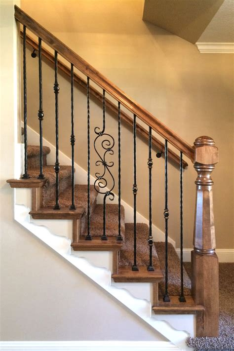 iron banisters wood iron baluster combinations titan architectural