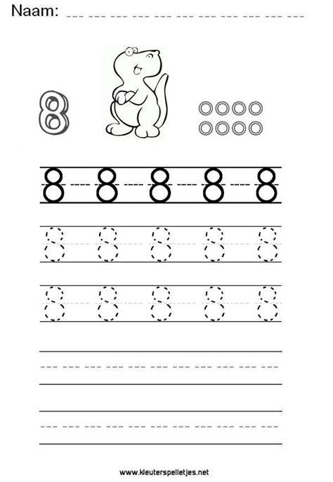 Werkbladen Groep 4 Het Weer by Cijfer 8 Leer Het Cijfer Acht Schrijven Werkblad Om Te
