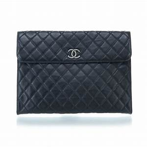 chanel calfskin quilted document holder portfolio black 28593 With portfolio document holder