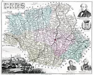 Carte Du Gers Détaillée : le d partement du gers en 1883 ~ Maxctalentgroup.com Avis de Voitures