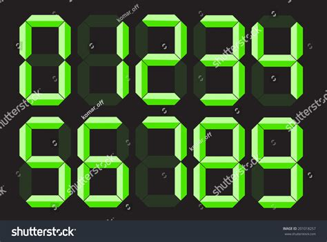 Alarm clock font generator : Digital Number Font Stock Vector (Royalty Free) 201018257 - Shutterstock