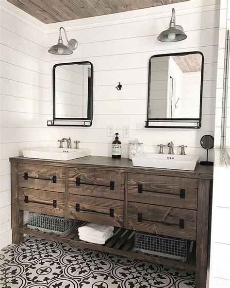 ana white rustic farmhouse double bath vanity