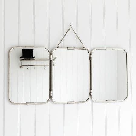 Tri Fold Bathroom Wall Mirror by Tri Fold Wall Hung Mirror Contemporary Wall Mirrors