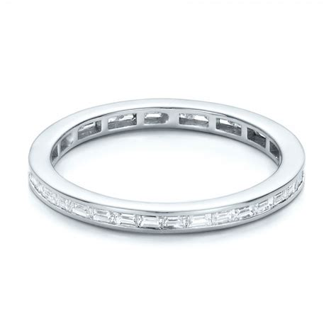 Eternity Baguette Diamond Wedding Band #101868  Seattle. Ghost Pendant. Woman Wedding Rings. Brass Wedding Rings. Large Engagement Rings. Gold Earrings. Mary Medallion. Memory Pendant. Beads Jwellery